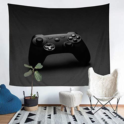 Gamer - Manta de pared para niños con mando de videojuegos para adolescentes y niñas, decoración de habitación, color negro, ligero, 152 x 201