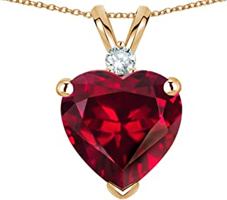8mm Heart Shape Solid 14k Gold Classic Heart Pendant Necklace