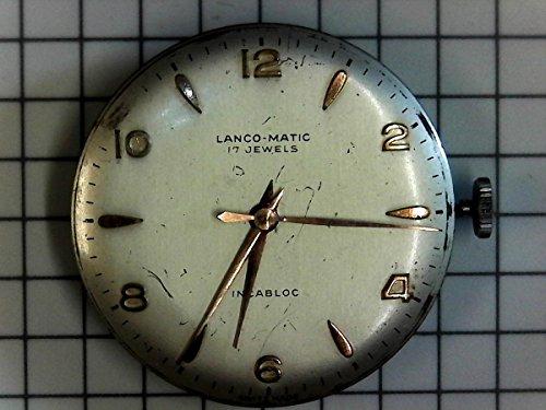 lanco Matic 17Jewels Watch Reloj de Repuesto de 1232incabloc Swiss Vintage Nos