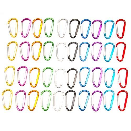 U/N 40 anillos en D de aleación de aluminio de 47 mm para montañismo y montañismo