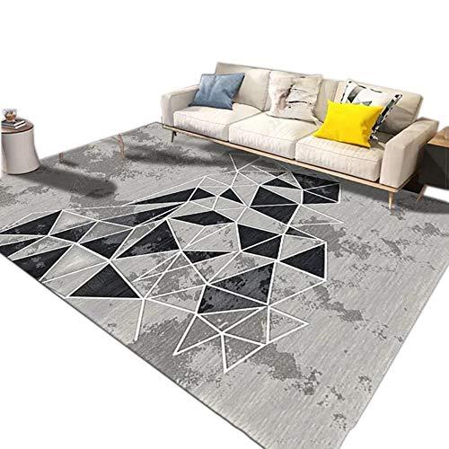 GHGMM Teppich Fußmatten, nordique Ménage Simple Doux Antidérapant Tapis, Convient à Salon Chambre canapé,E,100 * 160cm