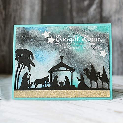 Kuizhiren1 DIY Metall Stanzformen für Karten, Krippe, DIY Scrapbook Prägung Papier Karten Album Craft Schablone – Silber