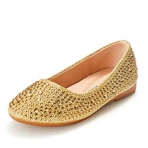 ADAMUMU Toddler Gold Dress Shoes fo…