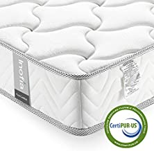 Full Mattress 8 Inch, Inofia Memory Foam Mattress in a Box, Medium Firm Feel, Sleep Cooler CertiPUR-US Certified Foam, Comfy Body Support with Pressure Relief, No-Risk 100 Night Trial