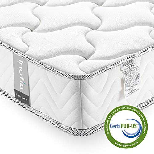 Queen Mattress 8 Inch, Inofia Memory Foam Double Mattress in a Box, Medium Firm Feel, Sleep Cooler CertiPUR-US Certified Foam, Comfy Body Support with Pressure Relief, No-Risk 100 Night Trial