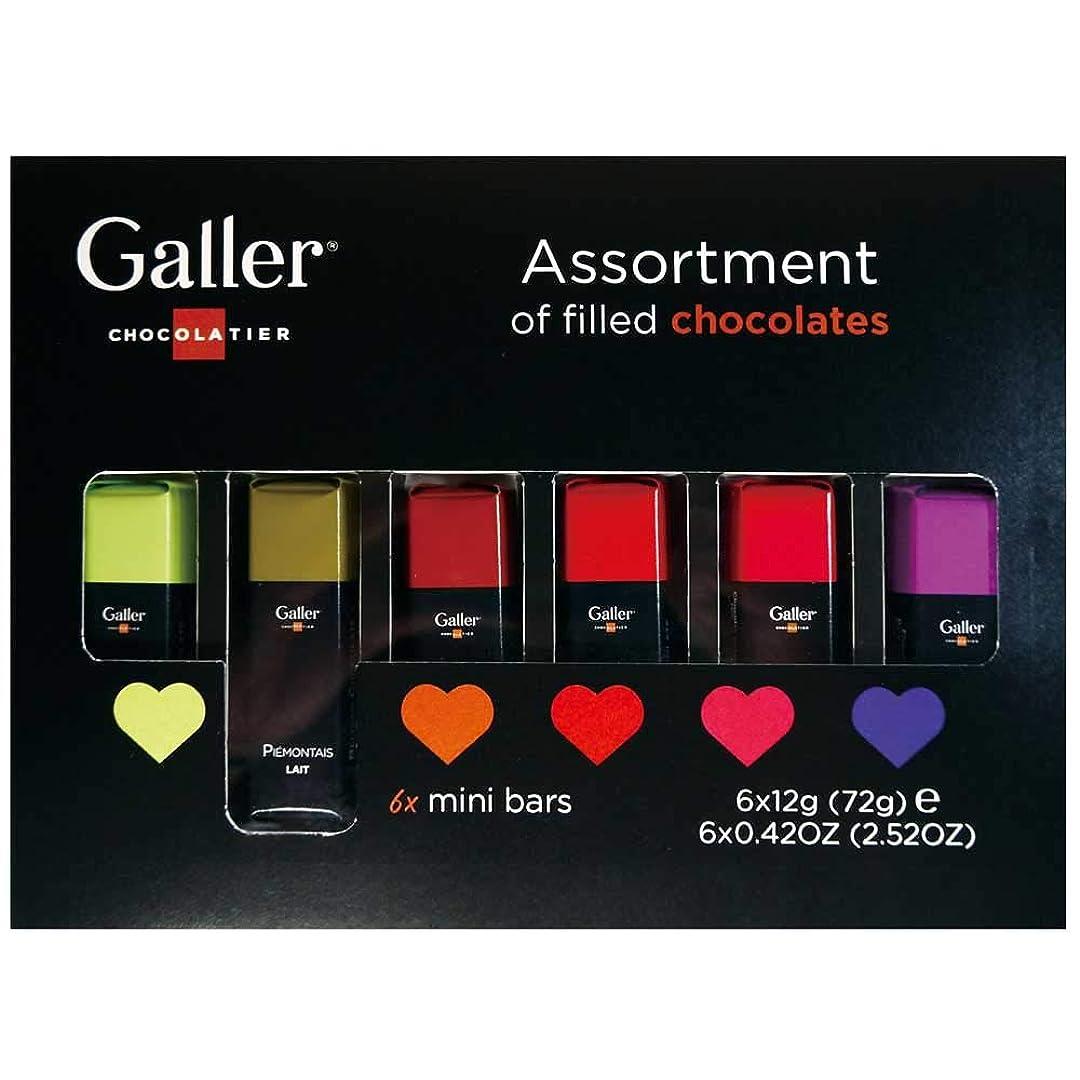 【 Galler ( ガレー ) ベルギー王室御用達 チョコレート 】 ミニバー 6本入り (2個セット)