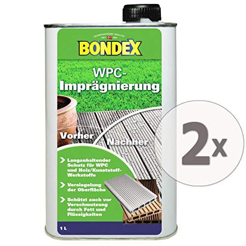 Gardopia Sparpaket: Bondex WPC-Imprägnierung Versiegelung Schutz, extrem wasserabweisend, 2 x 1 Liter