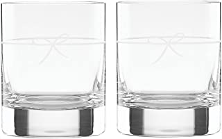 kate spade new york Ingram Way Double Old Fashioned Bar Drinking Glasses Set of 2, Clear Glass