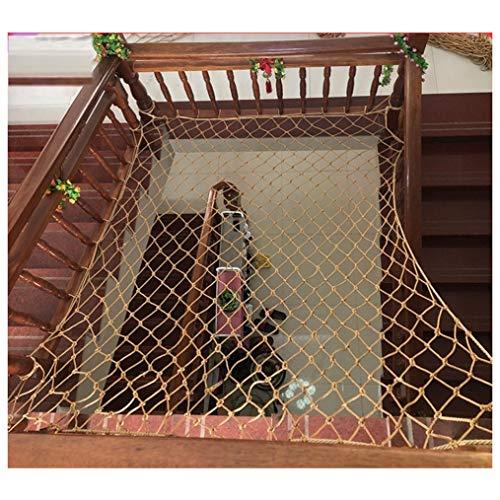 Red de protección de Red de Nailon marrón, Red de Seguridad para escaleras de balcón, Red anticaída para niños, Red de Seguridad para Enfermos, Red de Carga Blanda, Red para Vallas de jardín