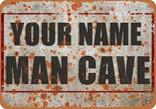 Letrero de metal, diseño vintage de la cueva de tu nombre, 30,5 x 40,6 cm