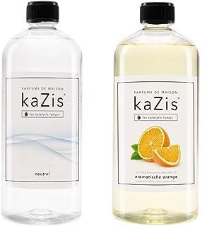 KAZIS® I Geurset neutrale essentie + echt oranje I 2 x 1 liter I geschikt voor alle katalytische lampen