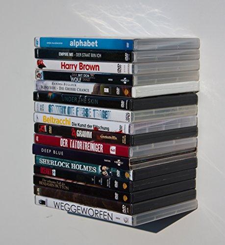 Blue Blu-ray de DVD de Game de estantería, Lounge de Loft de diseño, soporte de pared de consola de panel Invisible flotando