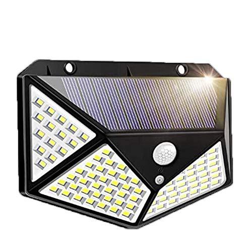 100 LED solar impermeable potencia PIR sensor de movimiento luz de pared al aire libre jardín lámpara