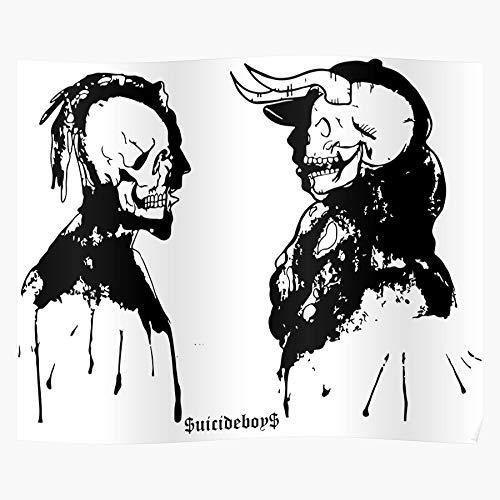 Rap Ghostemane Lil Suicide Peep Soundcloud Ap Suicideboys Pouya El mejor y más nuevo póster para la sala de decoración del hogar de arte de pared