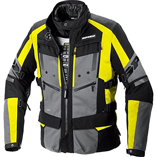 SPIDI Motorradjacke mit Protektoren Motorrad Jacke 4 Season Evo H2Out Textiljacke schwarz/gelb XL, Herren, Tourer, Ganzjährig