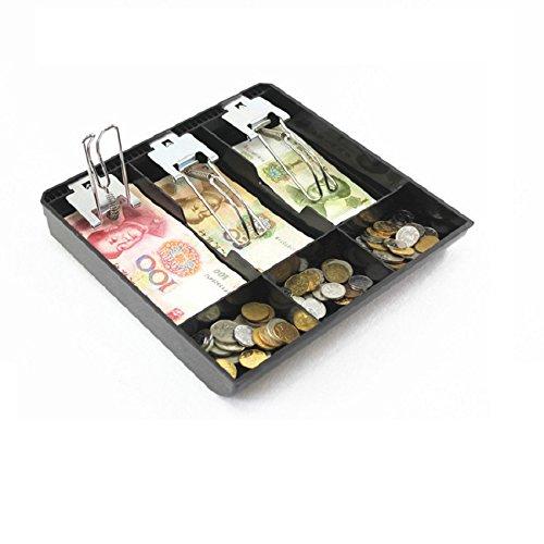 GUANHE Casella del registratore di cassa Nuovo negozio Classificare Moneta per cassiere Cassetto cassetto porta contanti (3 scomparti)