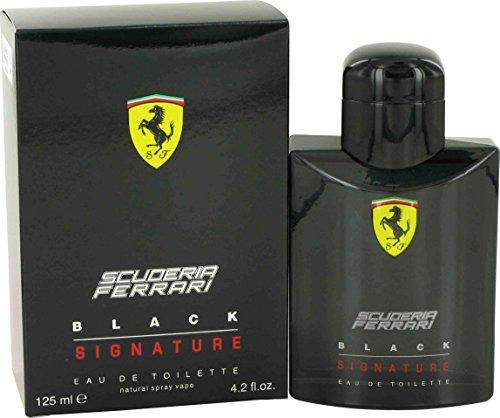Ferrari Scuderia Signature Eau de Toilette Spray for Men, Black, 4.2 Fluid Ounce