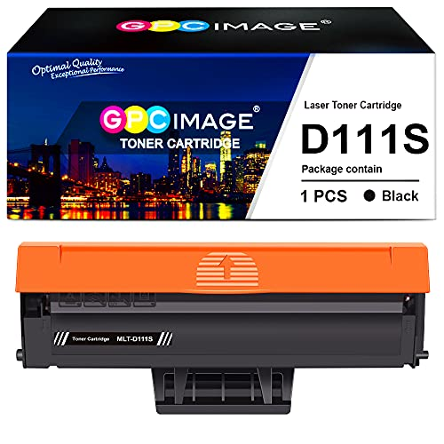 GPC Image Compatibili Cartucce di Toner Sostituzione per Samsung MLT-D111S per Xpress SL M2026W M2026 M2070 M2070W M2070F M2070FW M2020W M2020 M2022 M2022W (Nero, 1-Pack)