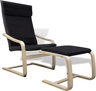 vidaXL Fotel z taboretem, fotel bujany, krzesło bujane, fot