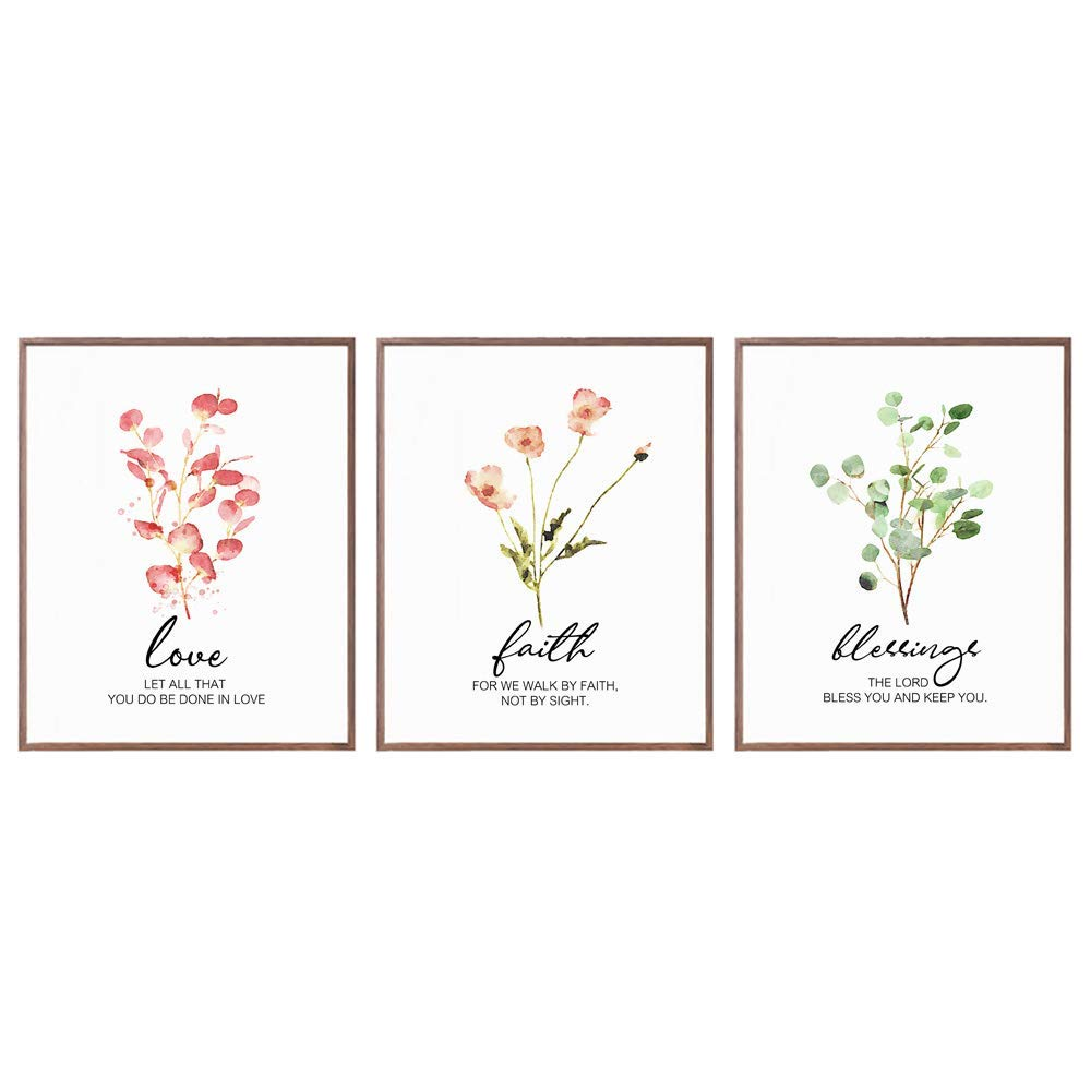 Bible Verse Print Botanical Modern Prin Wall Eucalyptus Popular standard Cheap mail order specialty store Leaf Art