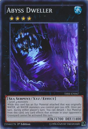 YU-GI-OH! - Abyss Dweller (THSF-EN047) - The Secret Forces - Unlimited Edition - Super Rare