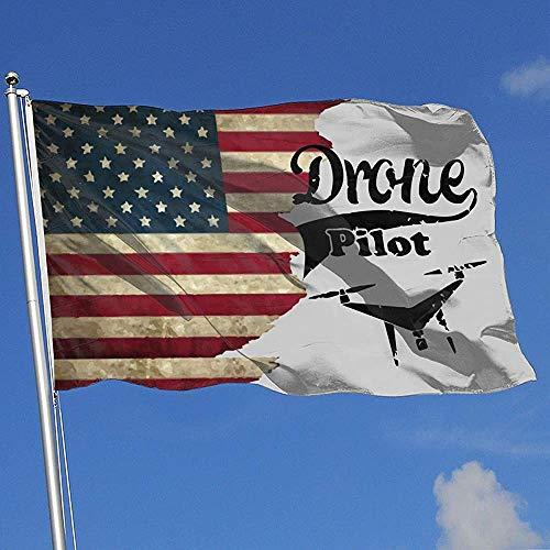 Elaine-Shop Outdoor Flags USA Flagge Drohne Pilot 4 * 6 Ft Flagge für Wohnkultur Sport Fan Fußball Basketball Baseball Hockey