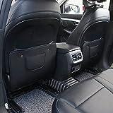 Best Kick Mats - 2 PCS Car Kick Mats PU Seat Anti Review