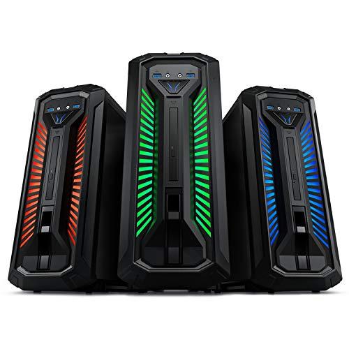 MEDION ERAZER Bandit E10 Gaming Desktop PC (Intel Core i5-10400, 16GB DDR4 RAM, 512GB PCIe SSD, NVIDIA GeForce GTX 1650 4GB GDDR5, DVD, Hot-Swap, WLAN, Win 10 Home)