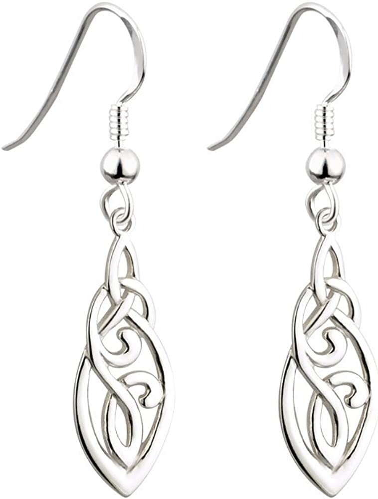 Failte Trinity Knot Earrings Popular Celtic Made quality assurance in Sterling Silver