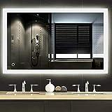 Turefans Miroir de Salle de Bain,Miroir LED, Interrupteur Tactile + Anti-buée + 2835LED (70 x 90 cm)