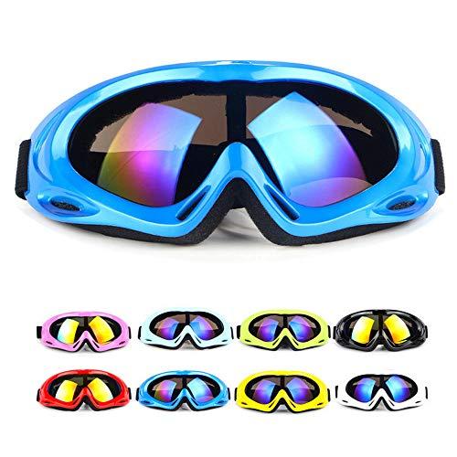 Anti-Glare Lenses, Ski Goggles, Winter Sport Snowboard Goggles with UV 400 Protection, Snowboard Goggles for Kids, Boys & Girls, Youth, Men & Women, Helmet, Wind Resistance (Blue Multicolor)