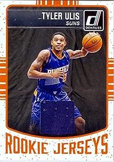 Tyler Ulis player worn jersey patch basketball card (Kentucky Wilcats, Phoenix Suns) 2016 Panini Donruss Rookies Jerseys #96