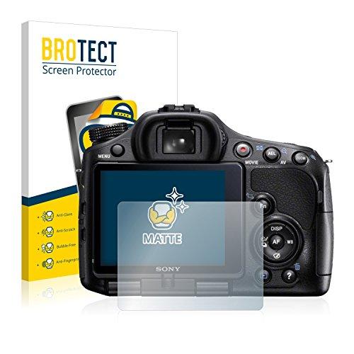BROTECT 2X Entspiegelungs-Schutzfolie kompatibel mit Sony Alpha 57 (SLT-A57) Bildschirmschutz-Folie Matt, Anti-Reflex, Anti-Fingerprint