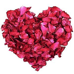 100 g de pétalos de rosa secos naturales, color rojo, para baños de pies, baño, spa, confeti de boda, fragancia para el hogar, accesorio para manualidades