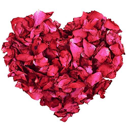 100 g natürliche getrocknete Rosenblätter echte Blume trockene rote Rose Blütenblätter für Fußbad Körperbad Spa Hochzeit Konfetti Heimduft Basteln Zubehör