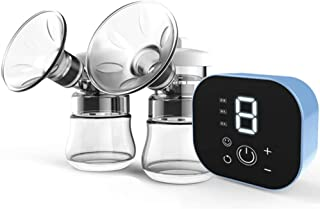 Electric Breast Pump, Dual Suction Breastfeeding Pump LED Touch Screen with 3 Modes 9 Levels, BPA Free, Rechargeable Breas...