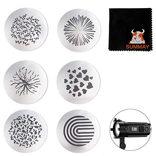 GODOX S30 Muster_Einsatz SA09-002 GOBO Set für Godox S30 LED Fokussierleuchte (SA09-02)