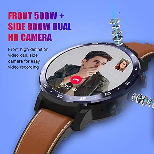 Smart Watch, 4G Cara ID 1.6 Pulgadas, Sistema Operativo De Pantalla Completa, Android 7.1 3G RAM 32G ROM LTE 4G SIM GPS WiFi Ritmo Cardíaco Hombre Mujer,A