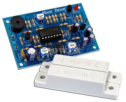 Door Alarm Time Delay 9-12 Vdc Electronic Circuit Kit : MXA077