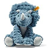 Steiff Soft Cuddly Friends Plush Dinosaur Dixi Triceratops EAN 087806