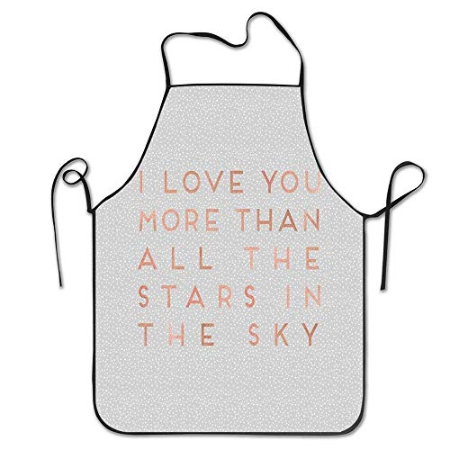 XCNGG Delantal de Cocina Kitchen Baking Personality Apron Restaurant Chef Garden Handmade Apron I Like You a Latte Trendy Hipster