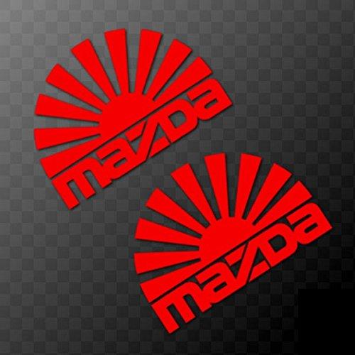 SUPERSTICKI® 2 x Mazda Japan Sonne 15 cm Aufkleber Autoaufkleber Sticker Tuning Vinyl UV& Waschanlagenfest Tuningsticker