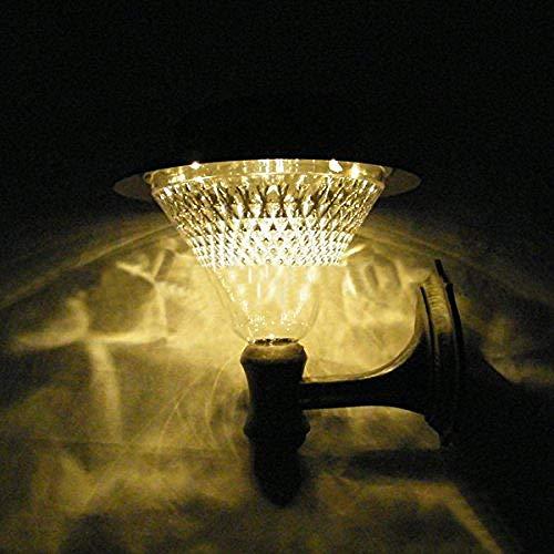 Meixian Wandlamp Outdoor Solar Power 16 Led Wei? Villa wandhouder tuin erf deur weg licht lamp warm wit Eenvoudig retro