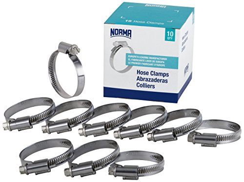 NORMA 01266704032-000-0539 Hose Clamps, 25 mm-40 mm x 9 mm W4 (Pack of 10)