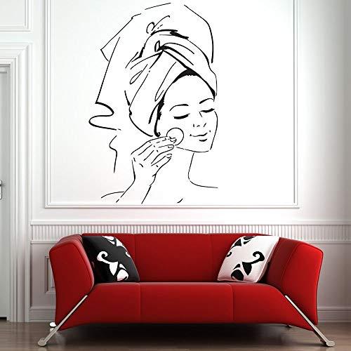 Calcomanía de pared Spa Salon Art Tratamiento Facial Vinilo Decoración de pared Patrón Salón de belleza Pegatinas de pared Decoración del hogar Dormitorio