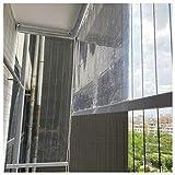 Estores Balcón Transparente El Plastico Cortina Enrollable con Guarnición, Interior Oficina Contadores Particiones/Corte, Kiosko Pérgola Pantalla Enrollable (Size : 105×180cm/41×71in)