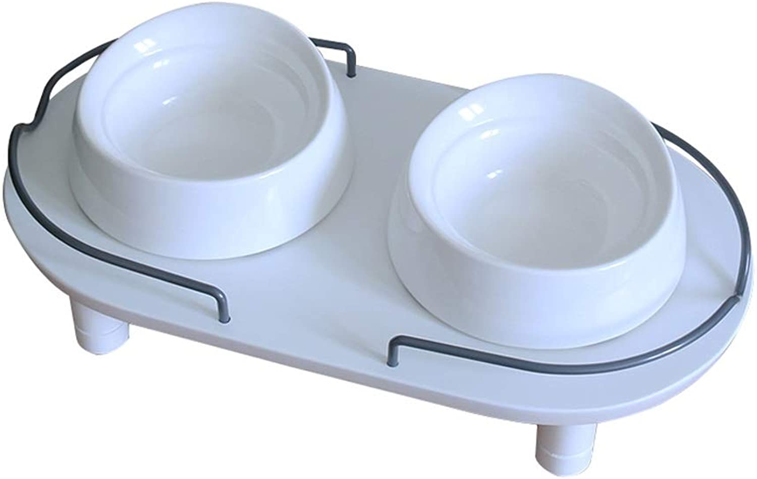 Cat Dog Bowls, Pet Dining Table, Cat Food Bowl Cat Feeding Bowl Cat Water Bowl, Double Bowl Feeder, for Cats Puppies (color   B)