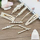 10 Pieces <span class='highlight'>Pearl</span> Hair Clips for Women Girls, EAONE Artificial <span class='highlight'>Pearl</span>s Hair Barrettes White <span class='highlight'>Pearl</span> Wedding Hairpins Hair Styling Accessories with 1 Gift Bag