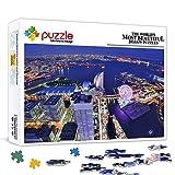 Rompecabezas 1000 piezas para adultos Yokohama Famoso paisaje de la ciudad Rompecabezas de madera Juego de rompecabezas de juguete Decoraciones y regalos únicos para el hogar 29.5x19.5 pulgadas
