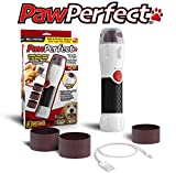 Bell+Howell PAWPERFECT Rechargeable Pet Nail Rotating File with 7000-14,000 RPM's for Dogs, Cats, and Other Small Animals As Seen On TV (Deluxe)